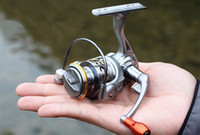 Wholesale Smallest Ice Fishing Reel - Gapless Small Ice Fishing Reel 12+1BB Spinning Reels Raft Fish Line Wheel DC150 Metal Rocker Arm