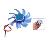 Wholesale vga cooler fans online - GTFS Hot New g Blue Plastic PC VGA Display Video Card Heatsink Cooler Cooling Fan