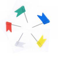 Wholesale Pins Map Tacks - 300 pcs Flag Push Pins Nail Thumb Tack Cork Board Map Drawing Pins For Home Office School Stationery Supplies 5 Colours
