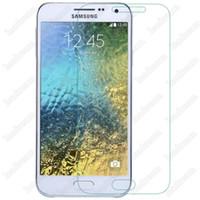 samsung galaxy e7 için temperli cam toptan satış-Patlama Korumalı 9H 0.3mm Ekran Koruyucu Tempered Glass Samsung Galaxy E5 E7 için ücretsiz DHL
