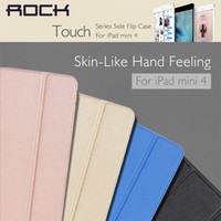 Wholesale Blackberry Playbook Touch - Rock Touch Series Side Flip Stand Case For iPad Mini 4 Flexible Holder Leather Case PC Cover Tablet Cases Bag Pouch
