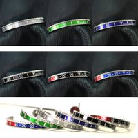 Wholesale Holiday Watches - Beichong Unisex 316l Stainless Steel Watch Classic Speedometer Bracelet Titanium Lovers Dial valentine's day Speedometer Bangles