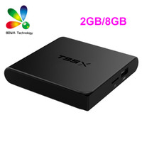 T95X Android tv caixa Amlogic S905X Android 6.0 KD 16.1 Totalmente carregado 2GB DDR3 RAM 8GB emmc Flash Miracast Google Streaming Media Player