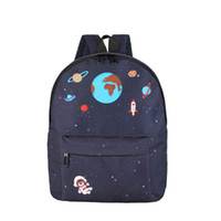 Wholesale embroidery mini dress design - Women Casual Canvas Backpack School Bags For Teenager Girls Four Design Rucksack Mochila Landscape Embroidery Printing Backpack