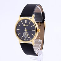 Wholesale Hot Joker - Foreign trade hot style fashion simple quartz belt in Geneva watches han edition couples joker character watches