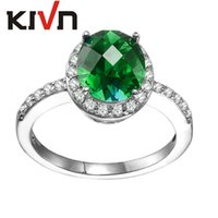 Wholesale Cluster Solitaire Rings - KIVN Women Fashion Jewelry Pave CZ Cubic zirconia Solitaire Wedding Bridal Engagement Rings Mothers Birthday Christmas Gifts
