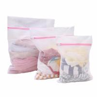 ingrosso cestelli di lavanderia-3 pezzi / set sacchetti di biancheria reggiseno cesti per biancheria intima borsa a rete lavanderia lavanderia sacchetto di pulizia kit di pulizia della casa