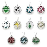 Wholesale aroma bags for sale - Group buy 2017 Christmas Life Tree Necklace MM stainless steel Aroma Hollow necklace pendant for bag sweater