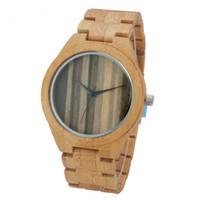 современный мужской ремешок для часов оптовых-Природа дерево часы мода мужчины наручные часы современный ручной бамбук полный древесины группа женщин спортивные часы подарки часы с коробкой