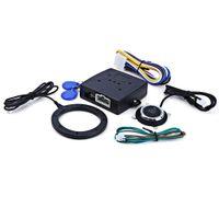 кнопочные замки оптовых-Новый автомобиль двигатель кнопка запуска RFID замок зажигания стартер без ключа Старт Стоп иммобилайзер сигнализация вождение безопасность