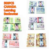 Wholesale Wholesaler Canada - 500PCS Canada Learning Prop Money CAD $100 50 20 10 5 Bank Training Banknotes Paper Money Movie Props Home Decoration Arts Craft Collectible