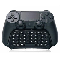 Wholesale Bluetooth Keyboard Gamepad - Mini PS4 Wireless Bluetooth Message Chatpad Keyboard for PS4 Game Controller Gamepad Joystick Dualshock 4 Micro USB Cable Q1