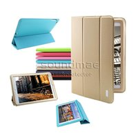 Wholesale KAKU PU Leather Auto Wake Sleep Stand Flip Cover Case For iPad air ipad mini inch with package