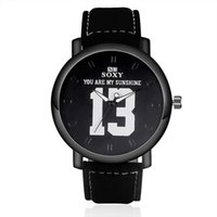 Wholesale Digital Watc - The Ball Star clothing identifier number Fans watches SOXY Watch The unique design of creative new leather watch number Digital 13 dial watc