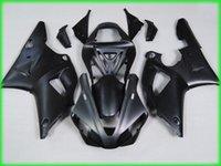 ingrosso scarpe yamaha r1 matte-Kit carenatura tutto nero opaco per YAMAHA YZFR1 00 01 Stampo a iniezione YZF R1 2000 2001 YZF1000 yzfr1 Set carenature