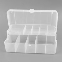 Wholesale Plastic Fishing Tackle Box - Wholesale- Trulinoya 20cm*10cm*6.5cm 2 Trays 10 Compartments Fish Tackle Box Plastic Fishing Lure Storage Box Fishing Accessories Organizer