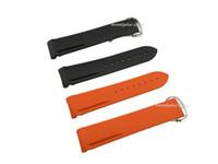 planeta laranja venda por atacado-20mm Nova cinta para relógio laranja e preto elástico implantação fecho fivela faixa de relógio de silicone Planeta-Oceano