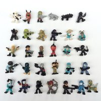 Wholesale Plastic Soldiers - Soldier Japanese ninja 2017 Mini Action Figures Gashapon Gachapon Capsule Toys Cute for children Christmas Gifts