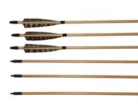 Wholesale Arrow Shapes - Archery Wooden Hunting Arrows Shield Shape Pheasant Feathers with Replacement Broadhead for Recurve Bow or Longbow