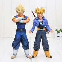 Wholesale Dragonball Z Trunks - 20-25CM Dragon Ball Z Master Stars Piece Super Saiyan Trunks Vegetto PVC Action Figures toys Dragonball Z Figures