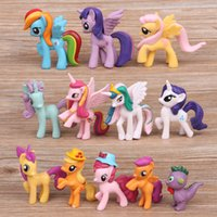 Wholesale Pvc Figures Little Pony - 2016 My Little Pony Cake Toppers PVC Action Figures Kids Girl Toy Dolls My Little Pony Figures