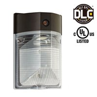 Wholesale Photocell Outdoor Lighting - 25W LED Wall Mount Light PHOTOCELL INCLUDED, DLC UL-listed Dusk to Dawn Wall Pack Outdoor Entrance Security Light 5 Years Warranty