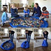 Wholesale Children Picnic Bag - diameter 150cm Kids Baby Play Mat Storage Bags Toys Organizer Blanket Rug Boxes Collection Mat Children Funny Outdoor Picnic KKA2296