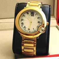 Wholesale Luxury Watch Couples - 2016 Luxury watches Women Watch Roman Numerals Dial Couple Top Brand Ballon Blue Stainless steel band Quartz Wristwatches Relojes gift