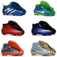 Wholesale cheap original cleats online - Originals Football Boots Neymar Cheap Magista Obra Mercurial V CR7 FG Soccer Cleats High Top Soccer Shoes New Ronaldo Football Shoes