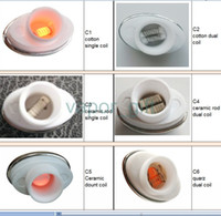 Wholesale Elips Clearomizer - various hot micro g coil wax double coil atomizer clearomizer ceramic for micro gpen Elips pen