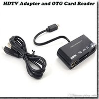 Micro USB OTG SD Lecteur de Carte TF Writer HUB MHL vers HDMI HDTV TV Adaptateur pour Samsung Galaxy S3 S4 Note2 i9300 i9500