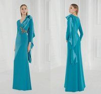 Wholesale Party Wear Designer Suits - Fashion Evening Dresses with Long Sleeves 2016 Beaded Sheath Plus Size Mother of Bride Gowns Custom Made Cheap Wedding Party Wear Designer