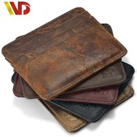 Wholesale Coin Cart - NEW Genuine Leathe magic wallet Credit Cart Wallet mini slim wallet card & id holders man women business credit card holder money clip