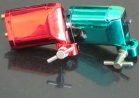 ротационная пластиковая машина для татуировки оптовых-Discoun!Новый 1 шт. красный или зеленый цвет Вы выбор пластиковые Ротари татуировки машины / пистолет груза падения
