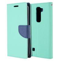 Wholesale leather folding phone wallet case - PU Leather Case Defender Folding Stand Phone Cover Folio Wallet for LG K7 Tribute 5 M1 LS675 LG K10 (50PCS Color At Least)