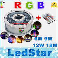 RGB Underwater Lights Fontaines Led 6W 9W 12W 18W Led Piscine Lumières AC 12V 24V Led étanche
