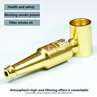 Wholesale Beer Filters - Beer Bottle Shape Pipes Aluminum Smoking Accessories Metal Filter Pipes 83mm Portable Mini Pipes