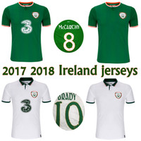 Wholesale Ireland Jersey Xl - 2017 2018 Ireland soccer jerseys Republic of Ireland national team jerseys 2018 World Cup Ireland KEANE Daryl home away football shirts