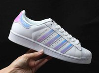 Wholesale Casual Female Fashion - Hot Sale holographic shoes Fashion Men Casual Shoes Superstar Female Sneakers Women Zapatillas Deportivas Mujer Lovers Sapatos Femininos