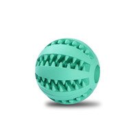 blue dog food - 2 Inch Rubber Balls Pet Dog Toys Ball cm Chew Toys Tooth Cleaning Balls Food Toy Ball for Dogs