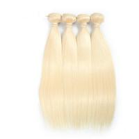 Wholesale platinum blonde hair extensions weft - 7A Quality 613 Blonde Virgin Hair Straight 4 Bundles Blonde Brazilian Hair Platinum Blonde Human Hair Extensions