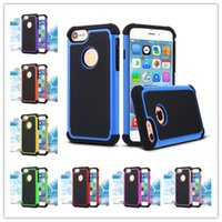 Wholesale Iphone 5c Case Lining - For Iphone 7 Case Football Line Design Cases Hybrid Robot 3 in 1 Armor Case cover for iphone 6 7 plus 5 5s 5c Samsung S5 S6 s7 Edge note 5