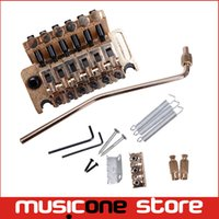 Wholesale Double Locking Floyd Rose System - Gold Floyd Rose Electric Guitar Tremolo Bridge Double Locking System MU0717