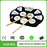 Wholesale mini drum toy - Wholesale- reset drum chip for workcent mini piano toys portable silicone drum