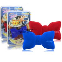 Wholesale Blue Detective - Fashion Anime Detective Conan Cosplay Props Voice changer Bow tie variable sound Neckwear for Children Gift Blue   Red