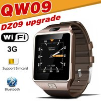 Wholesale Fitness Shells - QW09 smart watches DZ09 android upgrade WIFI card positioning of 3G call 5 million camera waterproof stainless steel shell business birthday