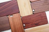 wooden case achat en gros de-Cas de téléphone en bois de gravure sur mesure pour Iphone X 8 7 couverture Nature sculpté des cas de bambou en bois pour Iphone 6 6s 7 plus bord Samsung S7 S8 S6