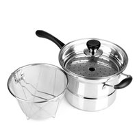 Cheap Wholesale-free shipping to RUSSIA stainless steel noodle pot with steamer sheet soup pot sauceboxes multi-purpose pot totipotent cookware
