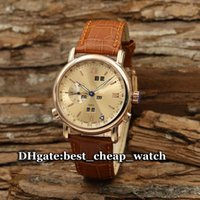 Wholesale 88 Nude - Super Clone Ulysse Brand Watch Classic GMT Perpetual Calendar Automatic Ref. 322-88 Mens Watch Rose Gold 320-22 Luxury Cheap Mens Watches