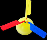 Wholesale Airplane Balloons - 200pcs lot flying Balloon Helicopter DIY balloon airplane Toy children Toy self-combined Balloon Helicopter Scenic spot hot selling gifts